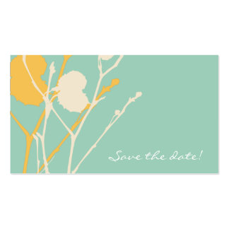 Twig TROPICAL Save the date MINI Business Card Template