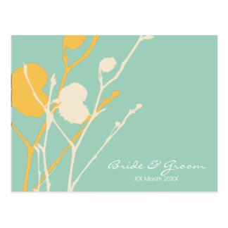 Twig TROPICAL wedding invitation P Postcard