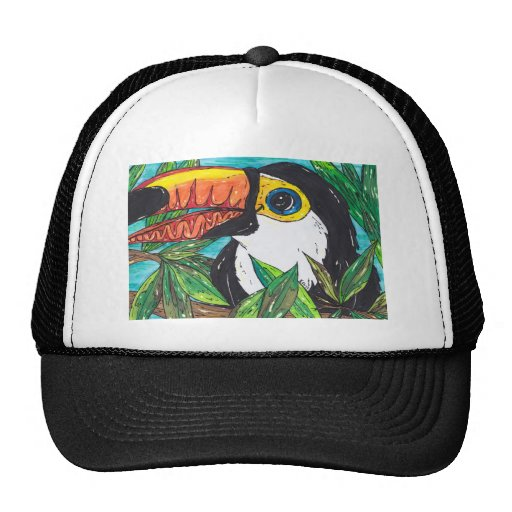 Twiggy the Toucan Mesh Hats