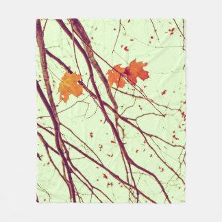Twigs in Autumn Fleece Blanket