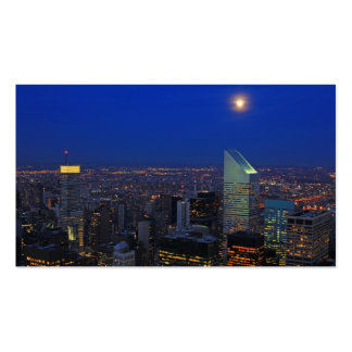 Twilght: Moonrise over the East River, NYC Double-Sided Standard Business Cards (Pack Of 100)