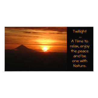 Twilight ... A Time to relax card Custom Photo Card