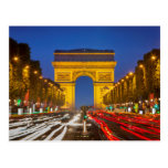 Twilight Along Champs Elysee Post Cards