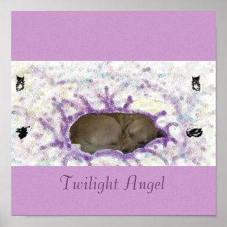Twilight Angel Canvas Poster