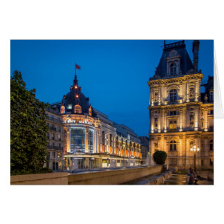 Twilight at Bazar de l'Hotel de Ville Card