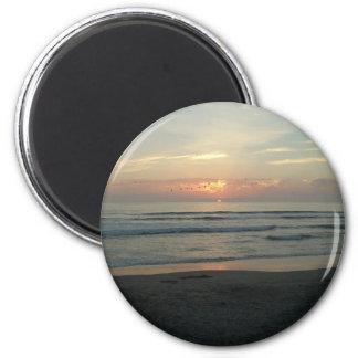 TWILIGHT AT IMPERIAL BEACH, CALIFORNIA 6 CM ROUND MAGNET