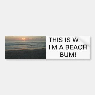 TWILIGHT AT IMPERIAL BEACH, CALIFORNIA CAR BUMPER STICKER