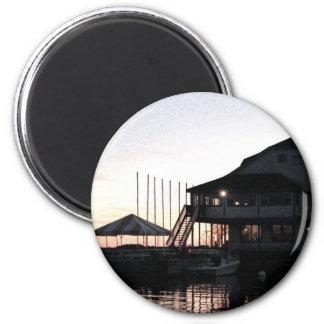 Twilight at lake waterfront, Kingston, Ontario Fridge Magnets