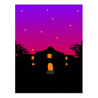 Twilight at the Alamo Postcard