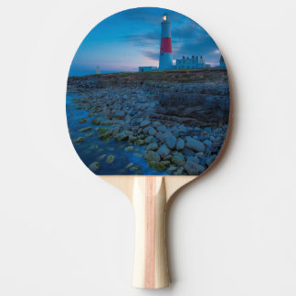 Twilight at the Portland Bill Lighthouse Ping Pong Paddle