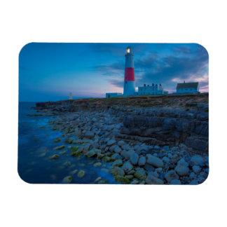 Twilight at the Portland Bill Lighthouse Rectangular Photo Magnet