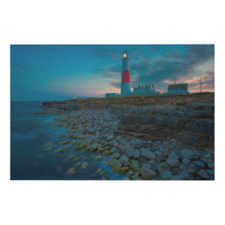 Twilight at the Portland Bill Lighthouse Wood Print