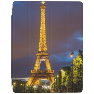Twilight below the Eiffel Tower iPad Cover