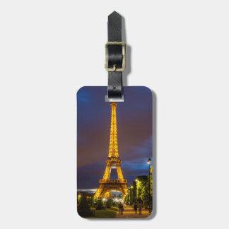 Twilight below the Eiffel Tower Luggage Tag