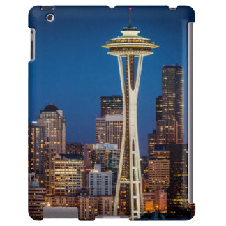 Twilight Blankets The Space Needle And Downtown iPad Case