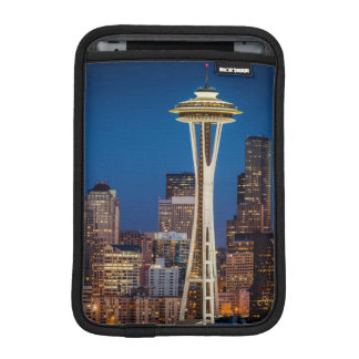 Twilight Blankets The Space Needle And Downtown iPad Mini Sleeve