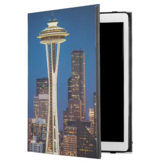 "Twilight Blankets The Space Needle And Downtown iPad Pro 12.9"" Case"