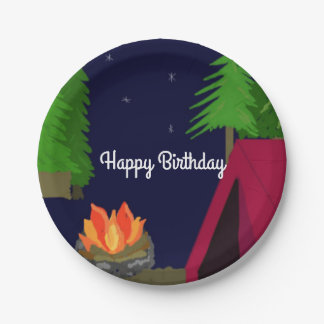 Twilight Campsite Birthday Paper Plate