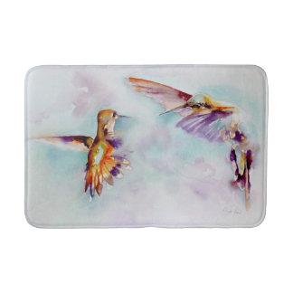 Twilight Dancers Hummingbird Print Bath Mat