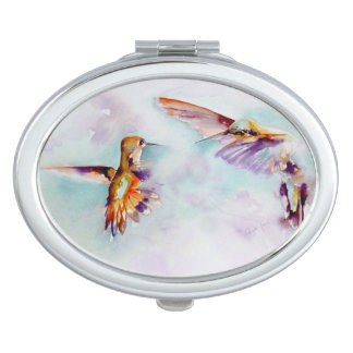 Twilight Dancers Hummingbird Print Vanity Mirrors