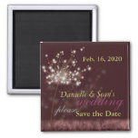 Twilight Dandelion Burgundy Wedding Save the Date