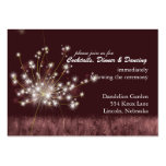 Twilight Dandelion Wedding Reception Pack Of Chubby Business Cards