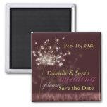 Twilight Dandelion Wedding Save the Date Magnets