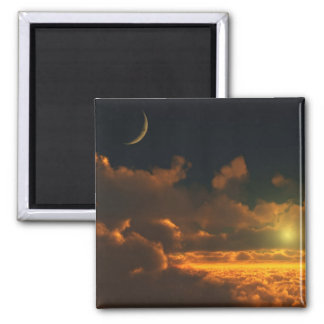 Twilight Dawn Square Magnet