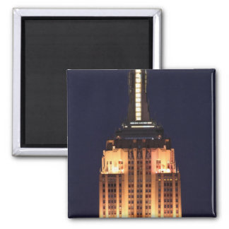Twilight: Empire State Building lit up Pink - 01 Square Magnet