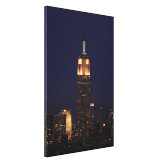 Twilight: Empire State Building lit up Pink - 02 Canvas Print