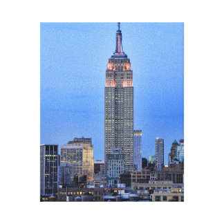 Twilight: Empire State Building lit up Pink - 04 Gallery Wrapped Canvas