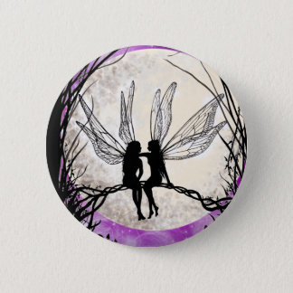 Twilight Fairy Art Pin Badge Fairy Silhouette