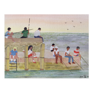 Twilight Fishing 1988 Postcard