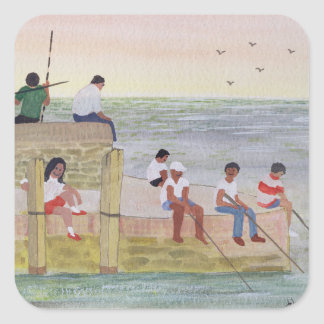 Twilight Fishing 1988 Square Sticker