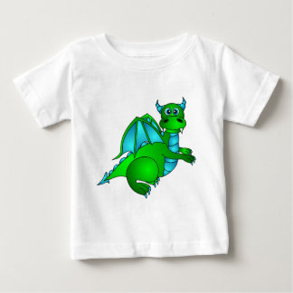 Twilight Flight - Cute Green & Blue Dragon Baby T-Shirt