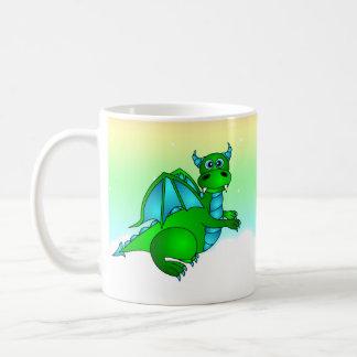 Twilight Flight - Cute Green & Blue Dragon Coffee Mug