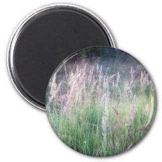 Twilight Forest Grass Glow 6 Cm Round Magnet