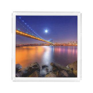 Twilight, George Washington BridgePalisades, NJ. Acrylic Tray