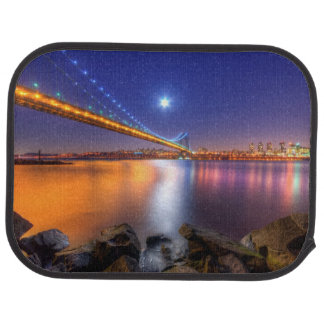 Twilight, George Washington BridgePalisades, NJ. Car Mat