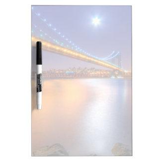 Twilight, George Washington BridgePalisades, NJ. Dry Erase Board