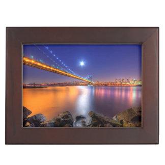 Twilight, George Washington BridgePalisades, NJ. Keepsake Box