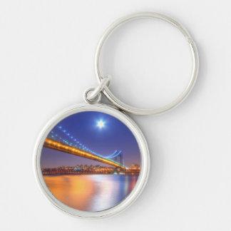 Twilight, George Washington BridgePalisades, NJ. Key Ring