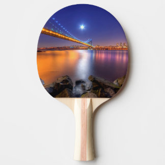 Twilight, George Washington BridgePalisades, NJ. Ping Pong Paddle