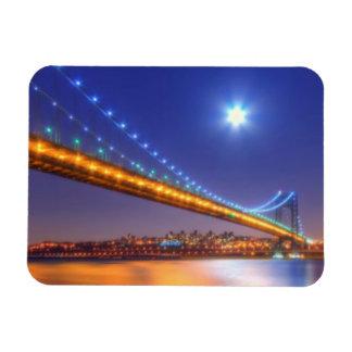 Twilight, George Washington BridgePalisades, NJ. Rectangular Photo Magnet