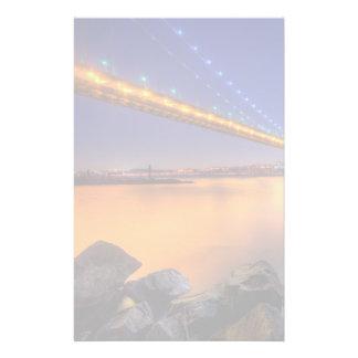 Twilight, George Washington BridgePalisades, NJ. Stationery
