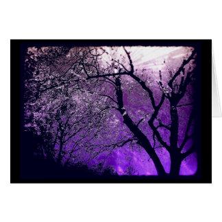 Twilight haze greeting card