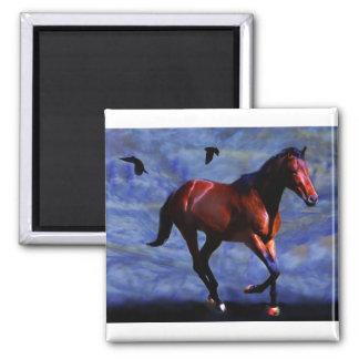 Twilight horse square magnet