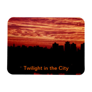 """Twilight in the City"" Rectangular Photo Magnet"