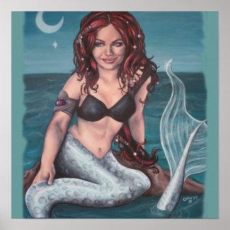 twilight mermaid artwork print