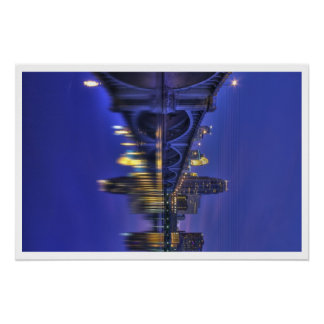 Twilight-Minneapolis & 3rd Ave Bridge Print